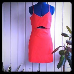 Zara red dress size large NWT